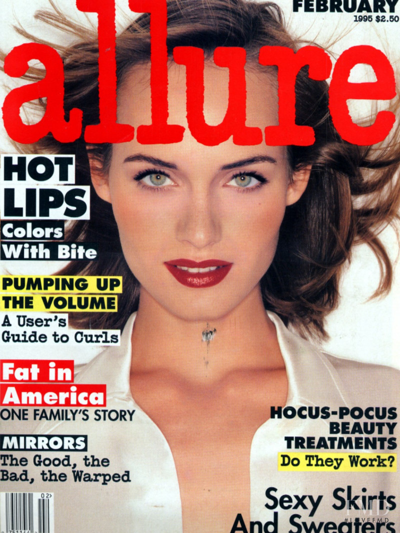 Amber Valletta featured on the Allure cover from February 1995