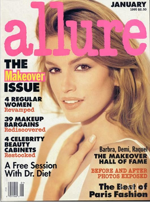 Cindy Crawford featured on the Allure cover from January 1995