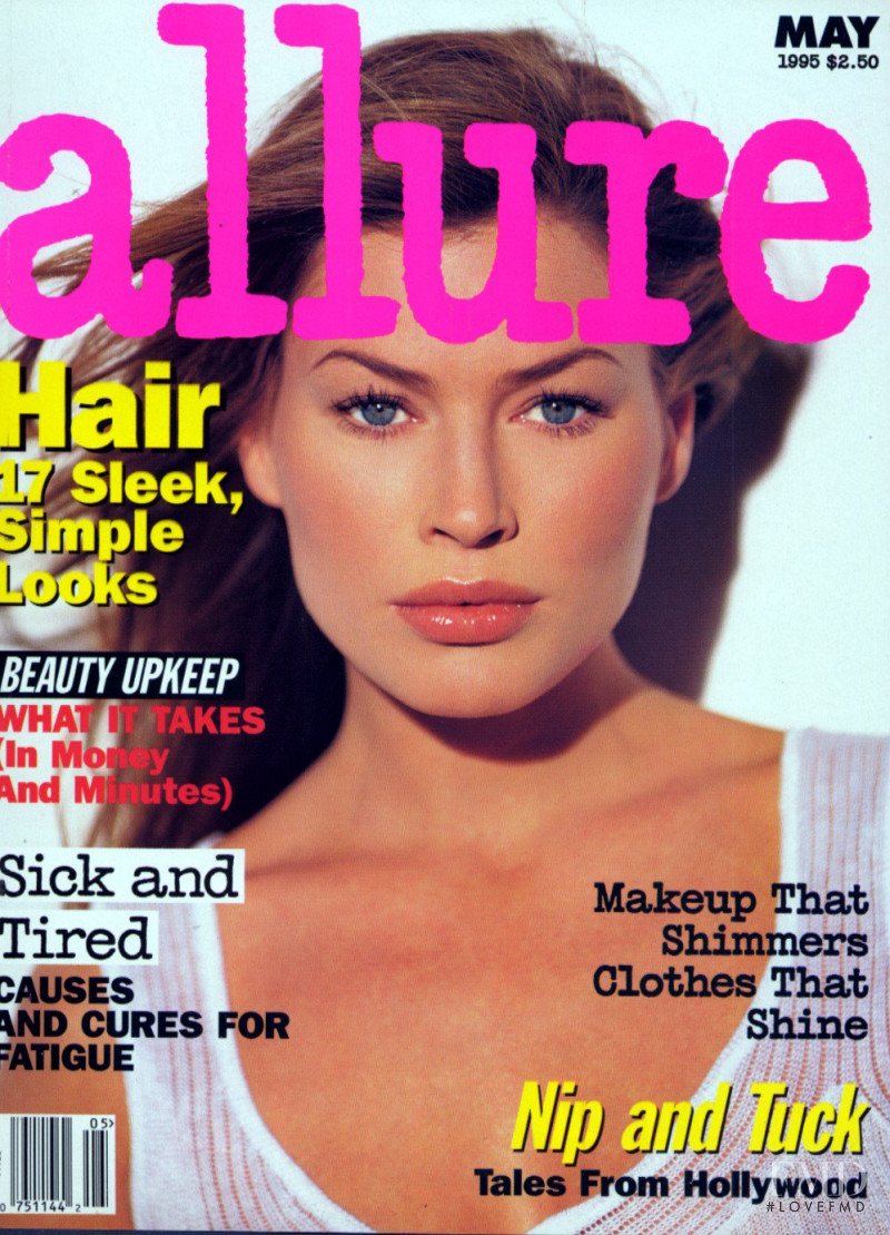 Carre Otis featured on the Allure cover from May 1995