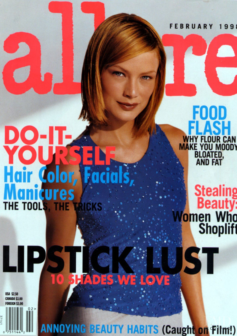 Carolyn Murphy featured on the Allure cover from February 1998