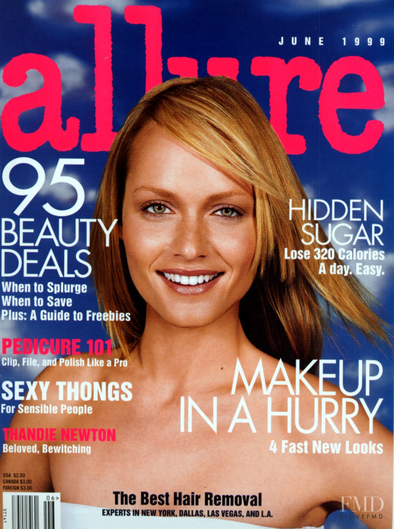 Amber Valletta featured on the Allure cover from June 1999