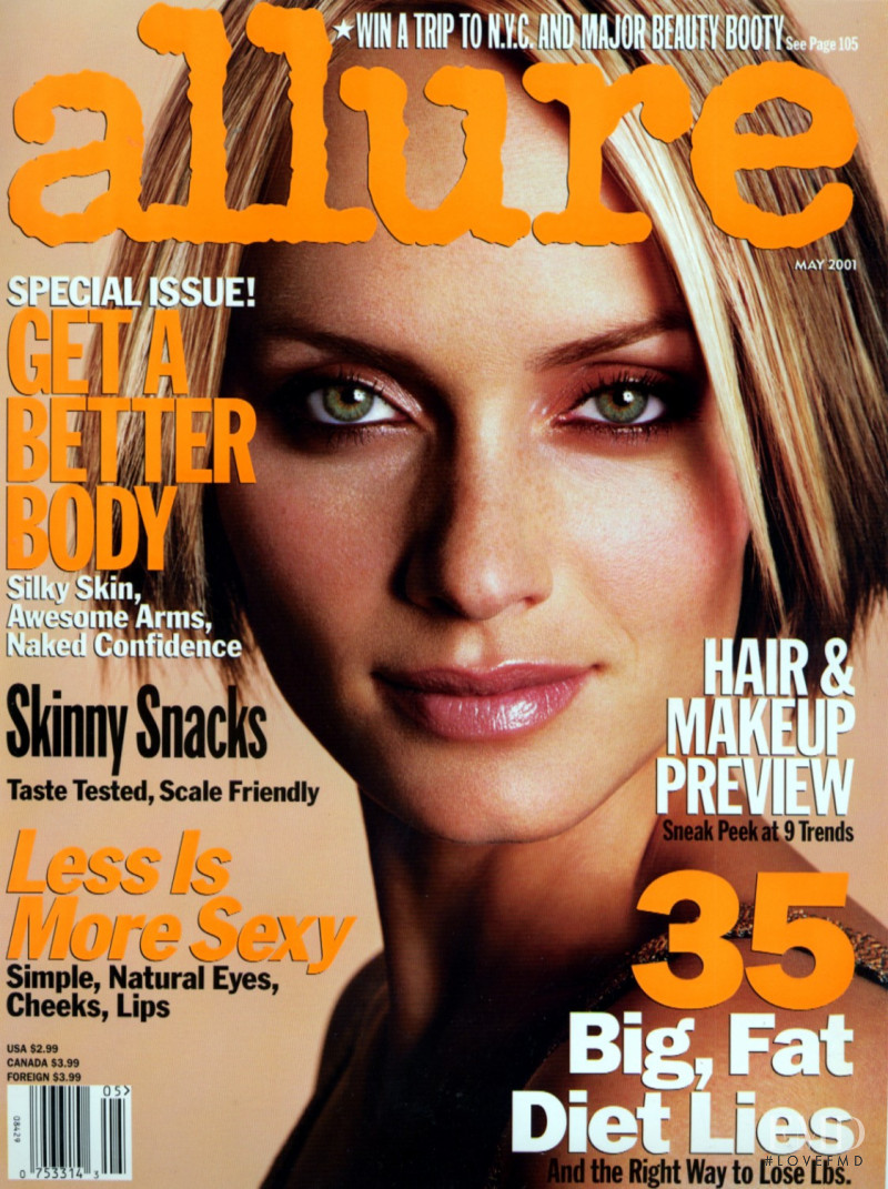 Amber Valletta featured on the Allure cover from May 2001
