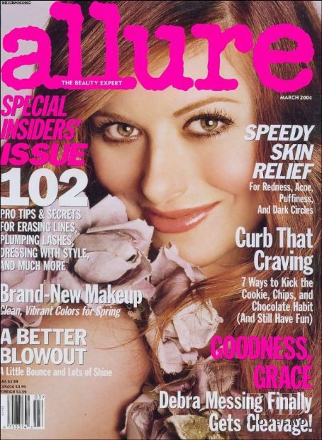 Debra Messing featured on the Allure cover from March 2004