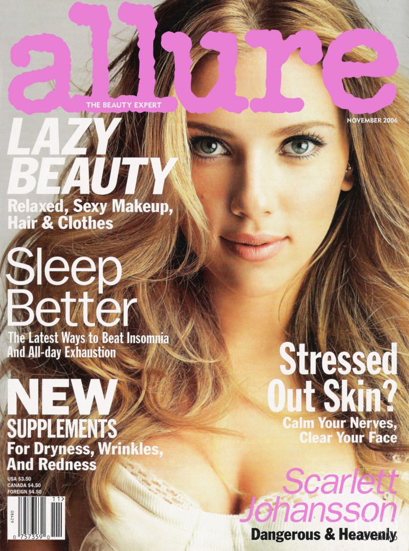 Scarlett Johansson featured on the Allure cover from November 2006