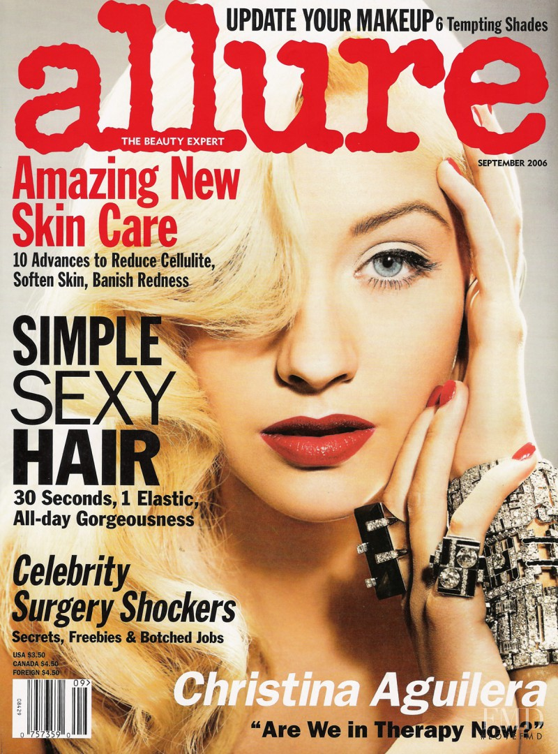 Christina Aguilera featured on the Allure cover from September 2006