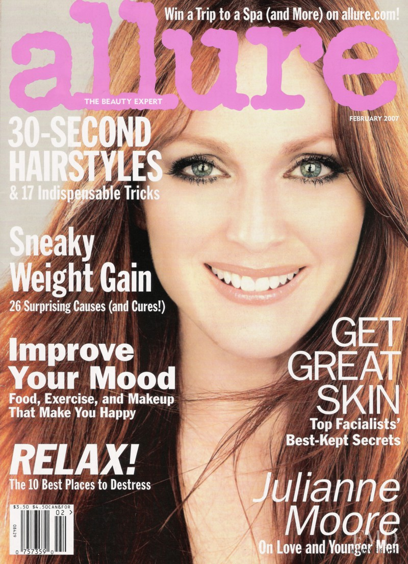 Julianne Moore featured on the Allure cover from February 2007