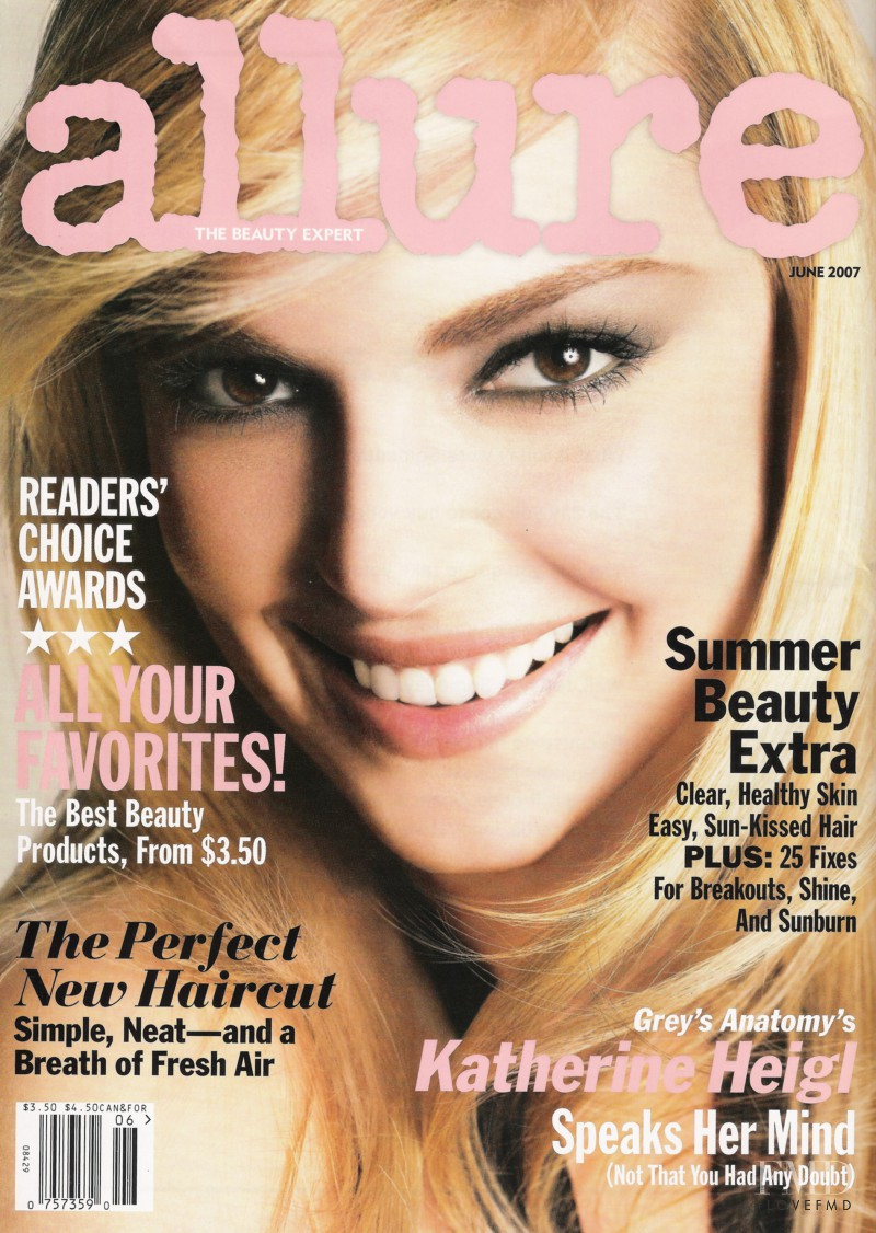Katherine Heigl featured on the Allure cover from June 2007