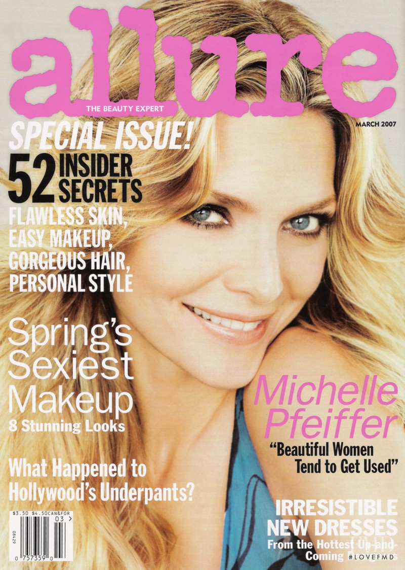 Michelle Pfeiffer featured on the Allure cover from March 2007