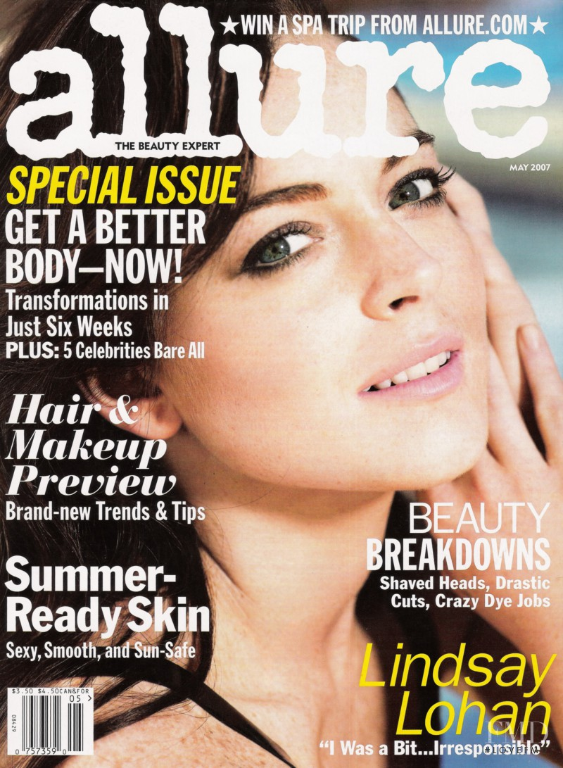 Lindsay Lohan featured on the Allure cover from May 2007