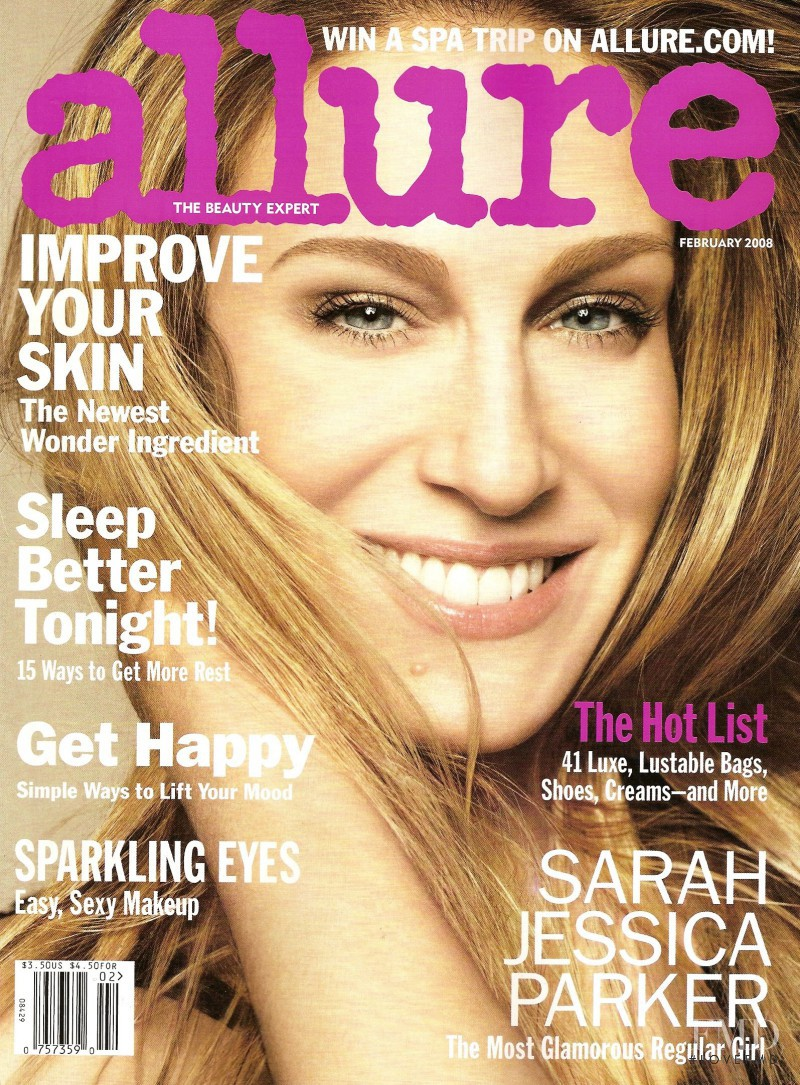 Sarah Jessica Parker featured on the Allure cover from February 2008