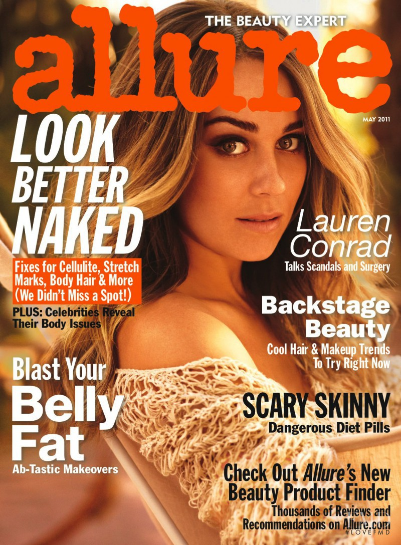 Lauren Conrad featured on the Allure cover from May 2011