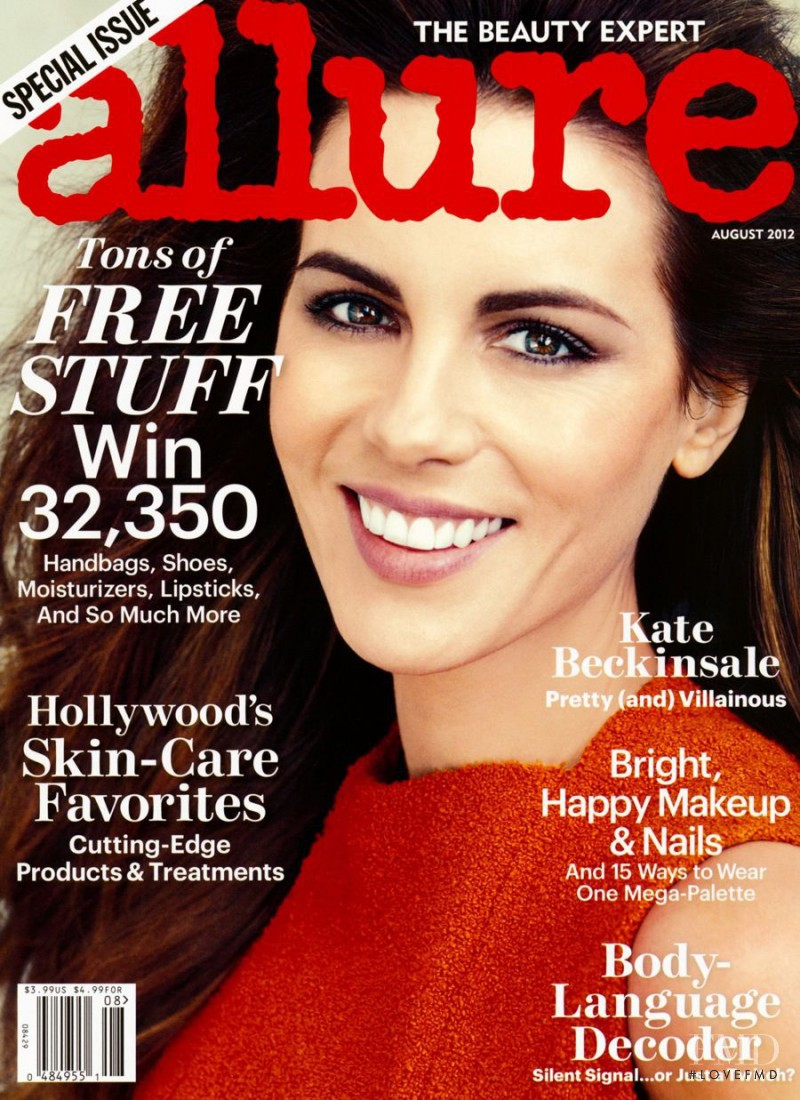 Kate Beckinsale featured on the Allure cover from August 2012