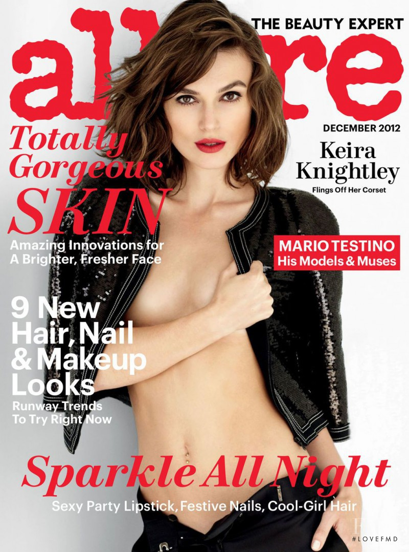 Keira Knightley featured on the Allure cover from December 2012