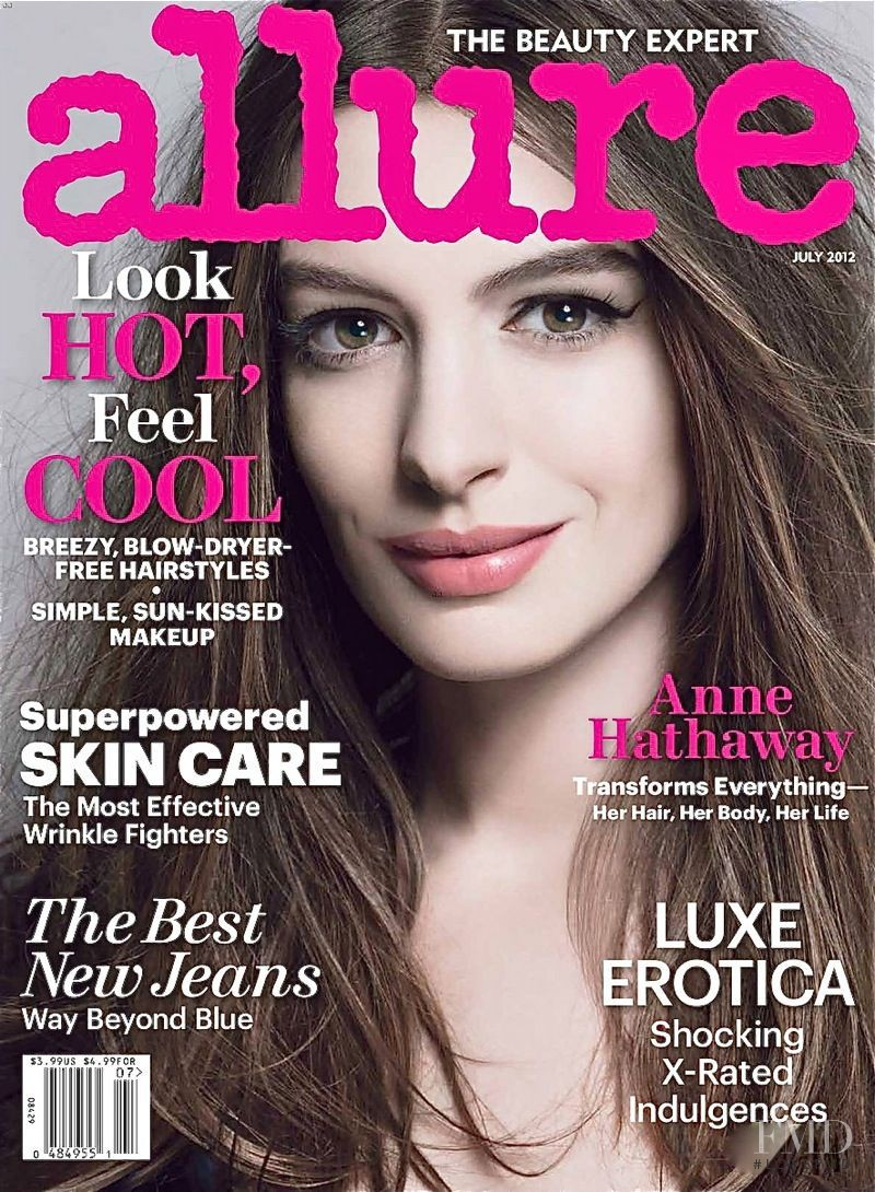 Anne Hathaway featured on the Allure cover from July 2012