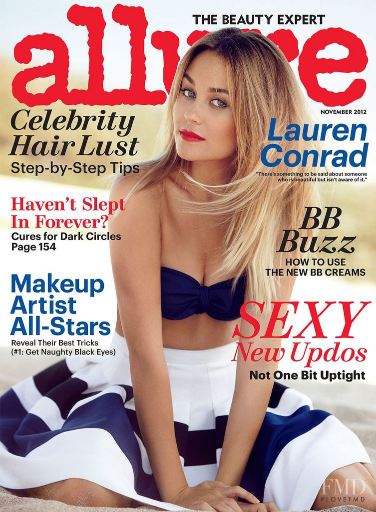 Lauren Conrad featured on the Allure cover from November 2012