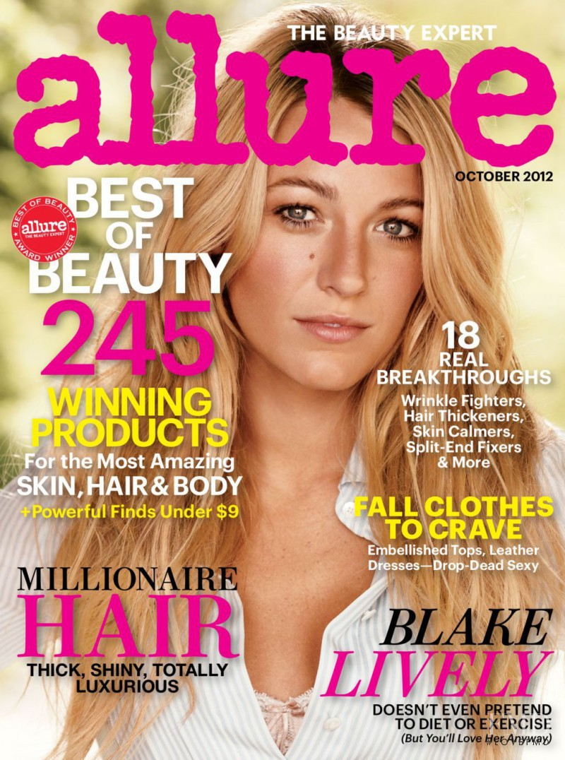 Blake Lively featured on the Allure cover from October 2012