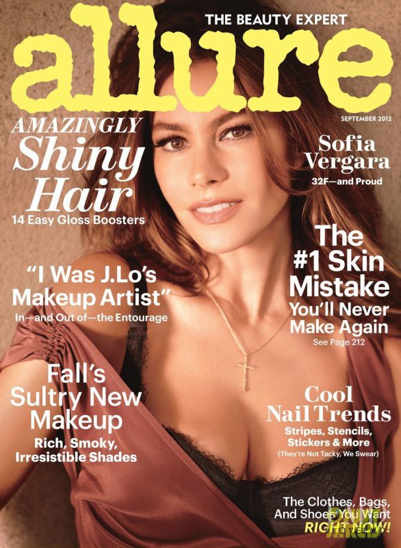 Sofia Vergara featured on the Allure cover from September 2012