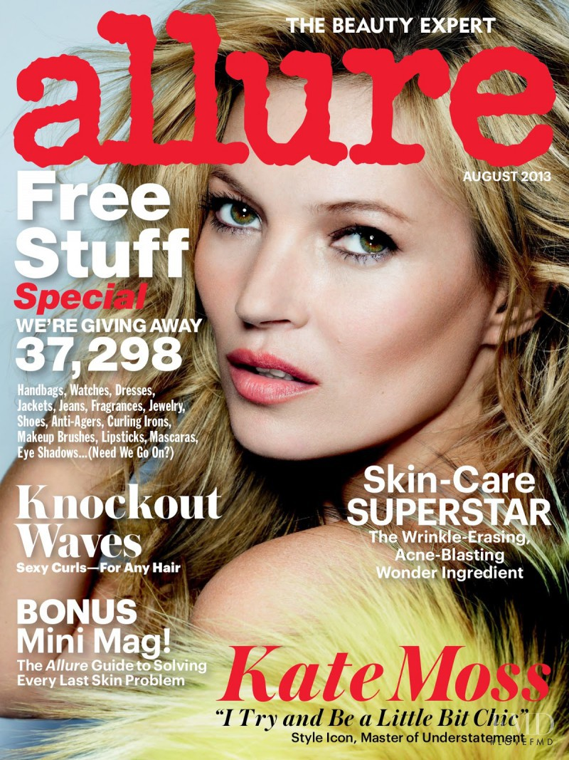 Kate Moss featured on the Allure cover from August 2013