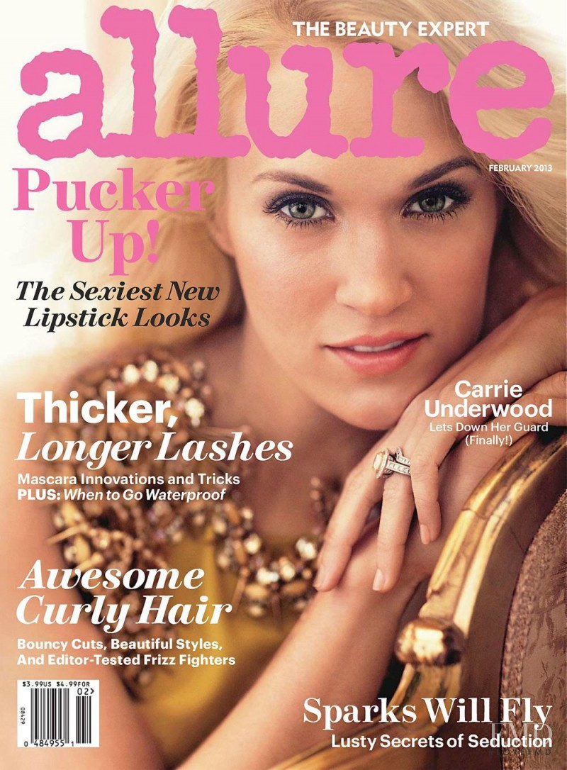Carrie Underwood featured on the Allure cover from February 2013
