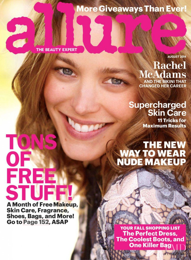 Brooke Hauser featured on the Allure cover from August 2014