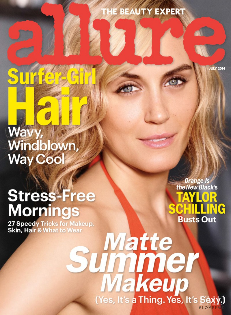 Taylor Schilling  featured on the Allure cover from July 2014