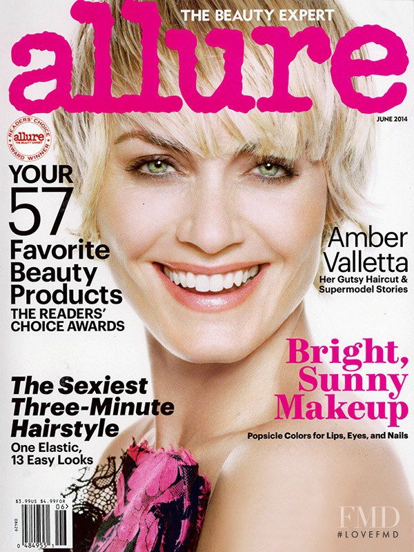 Amber Valletta featured on the Allure cover from June 2014