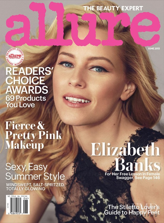 Elizabeth Banks featured on the Allure cover from June 2015