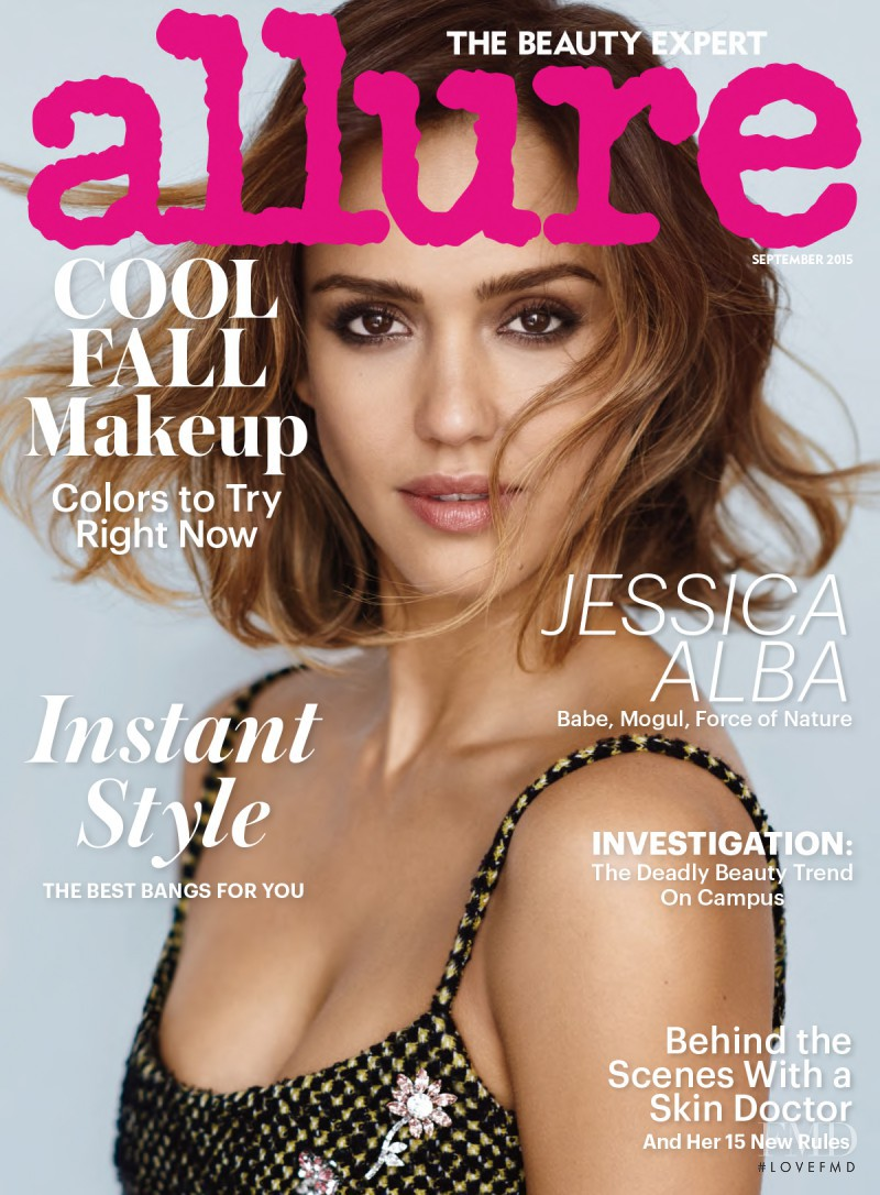 Jessica Alba featured on the Allure cover from September 2015