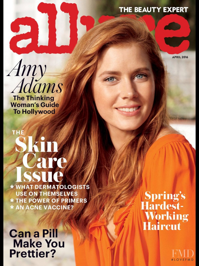 Amy Adams featured on the Allure cover from April 2016