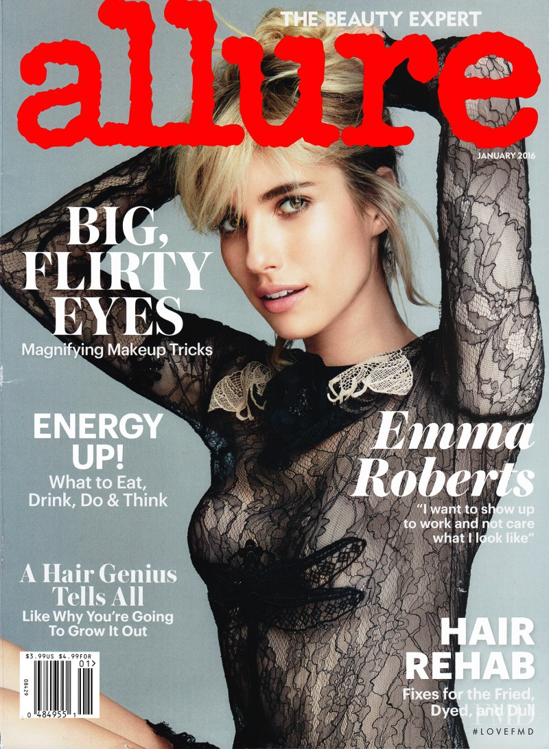 Emma Roberts featured on the Allure cover from January 2016