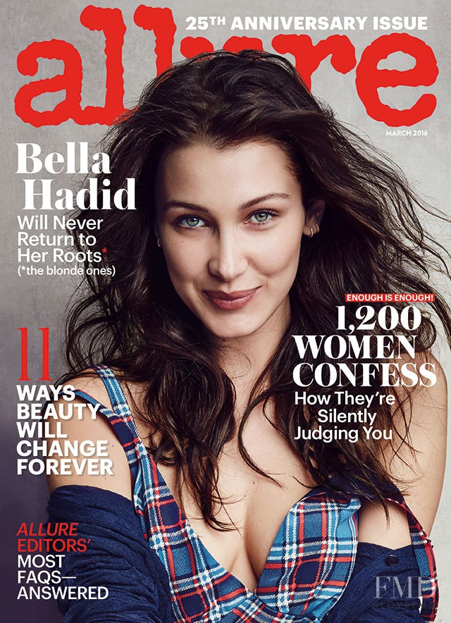 Bella Hadid featured on the Allure cover from March 2016