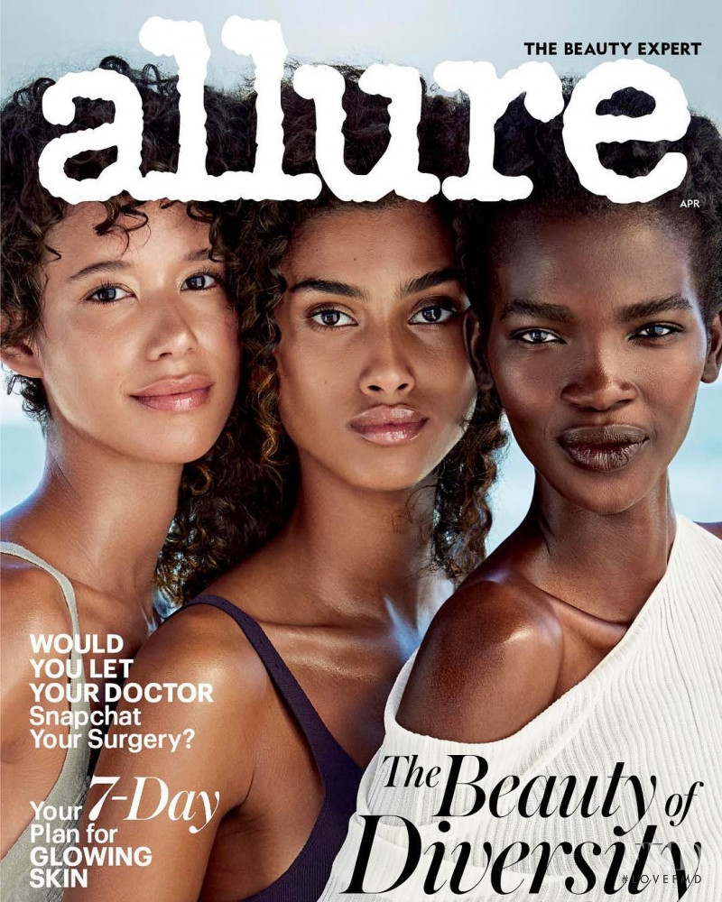 Imaan Hammam, Aamito Stacie Lagum, Janiece Dilone featured on the Allure cover from April 2017