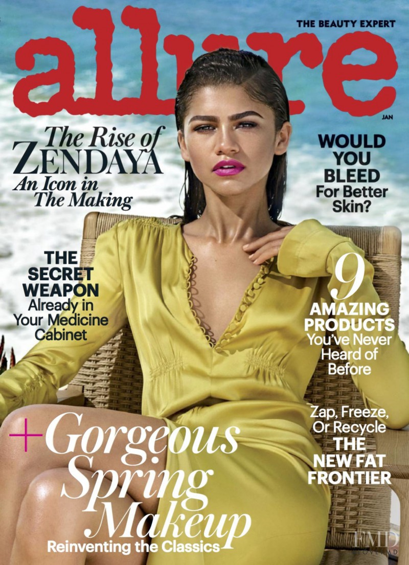 Zendaya featured on the Allure cover from January 2017