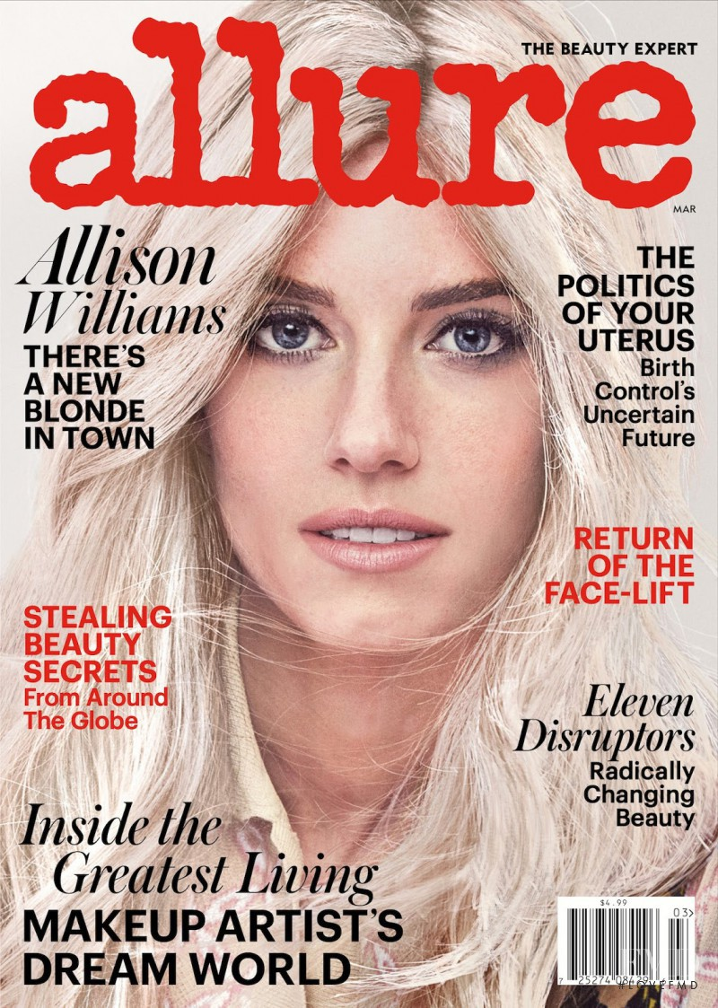 Allison Williams featured on the Allure cover from March 2017