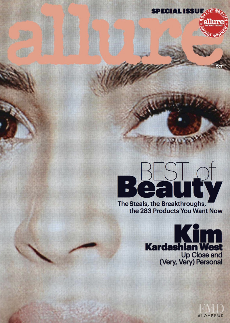 Kim Kardashian featured on the Allure cover from October 2017