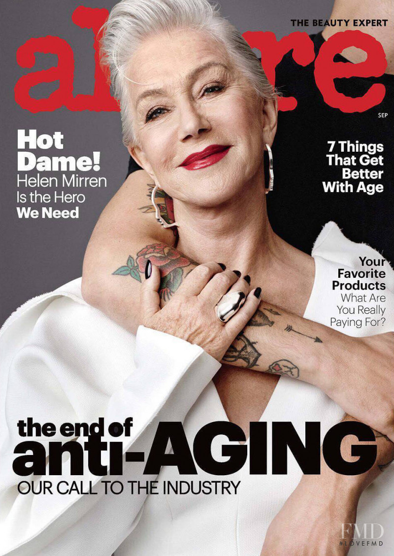 Helen Mirren featured on the Allure cover from September 2017