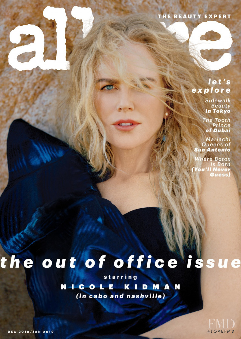 Nicole Kidman featured on the Allure cover from December 2018
