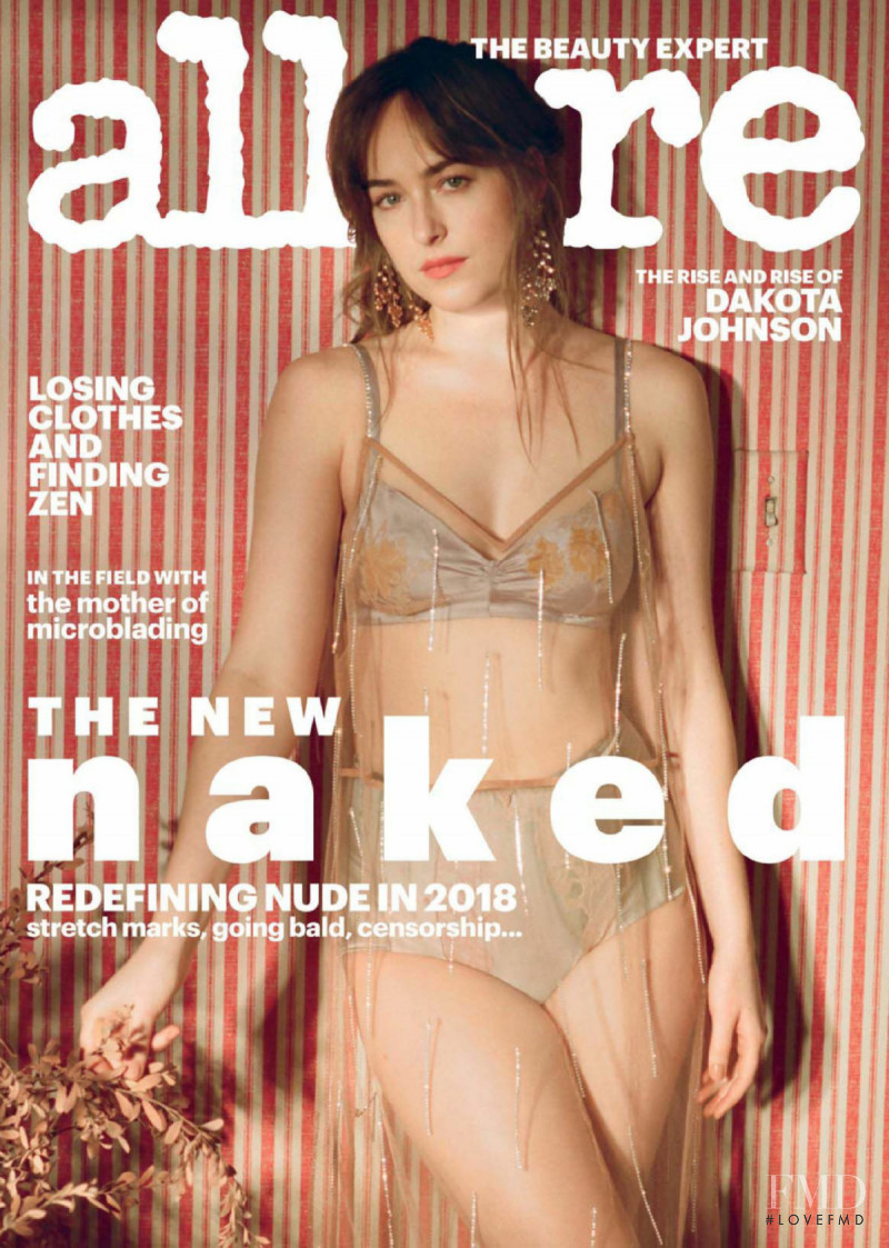 Dakota Johnson featured on the Allure cover from February 2018