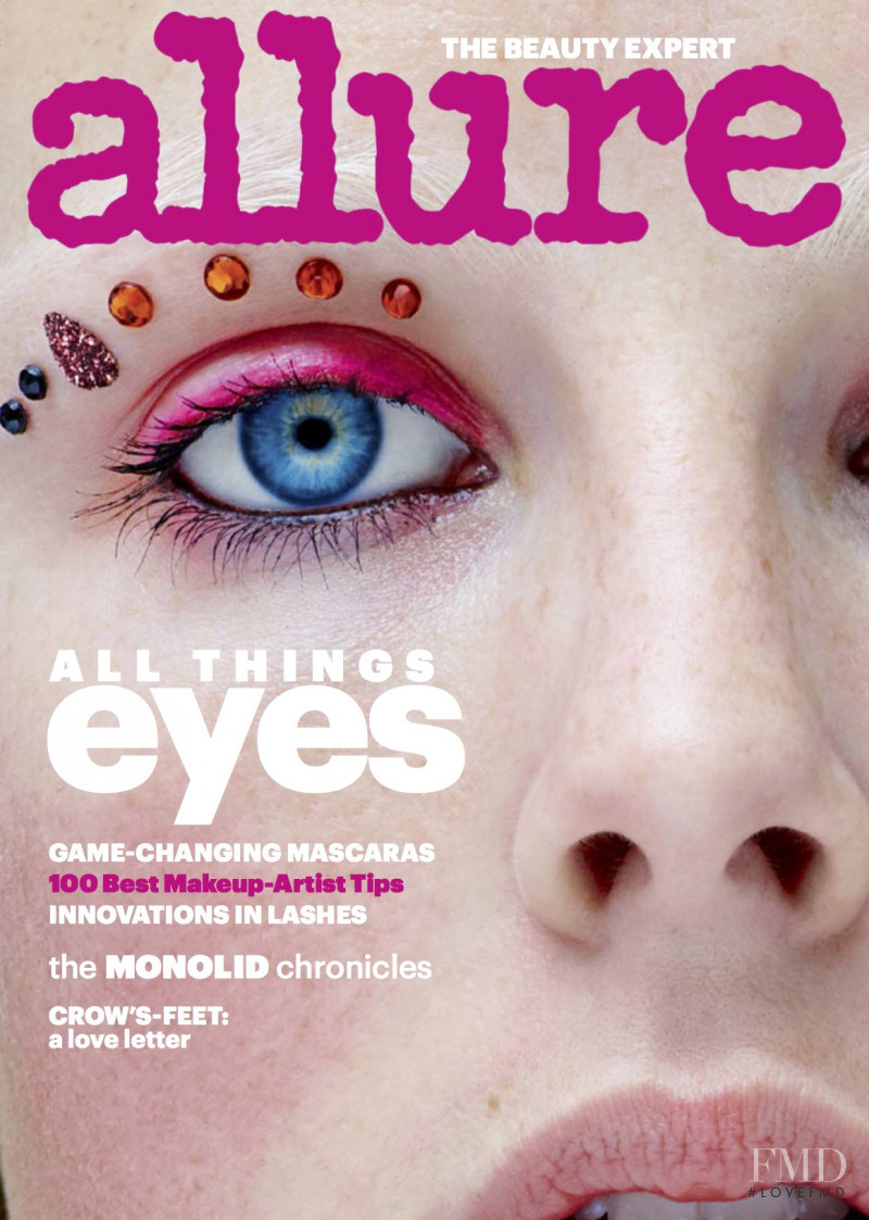 Edie Campbell featured on the Allure cover from January 2018