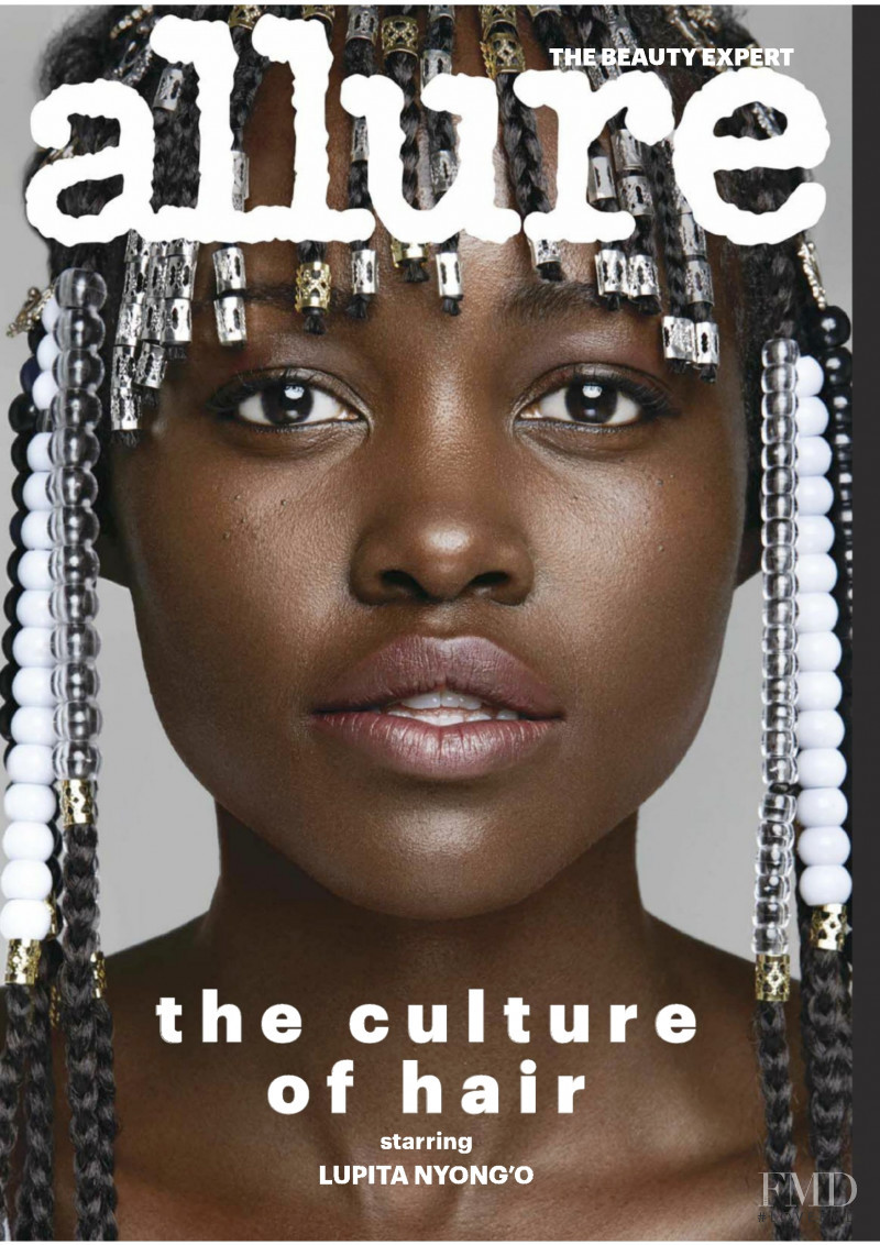 Lupita Nyong featured on the Allure cover from March 2018