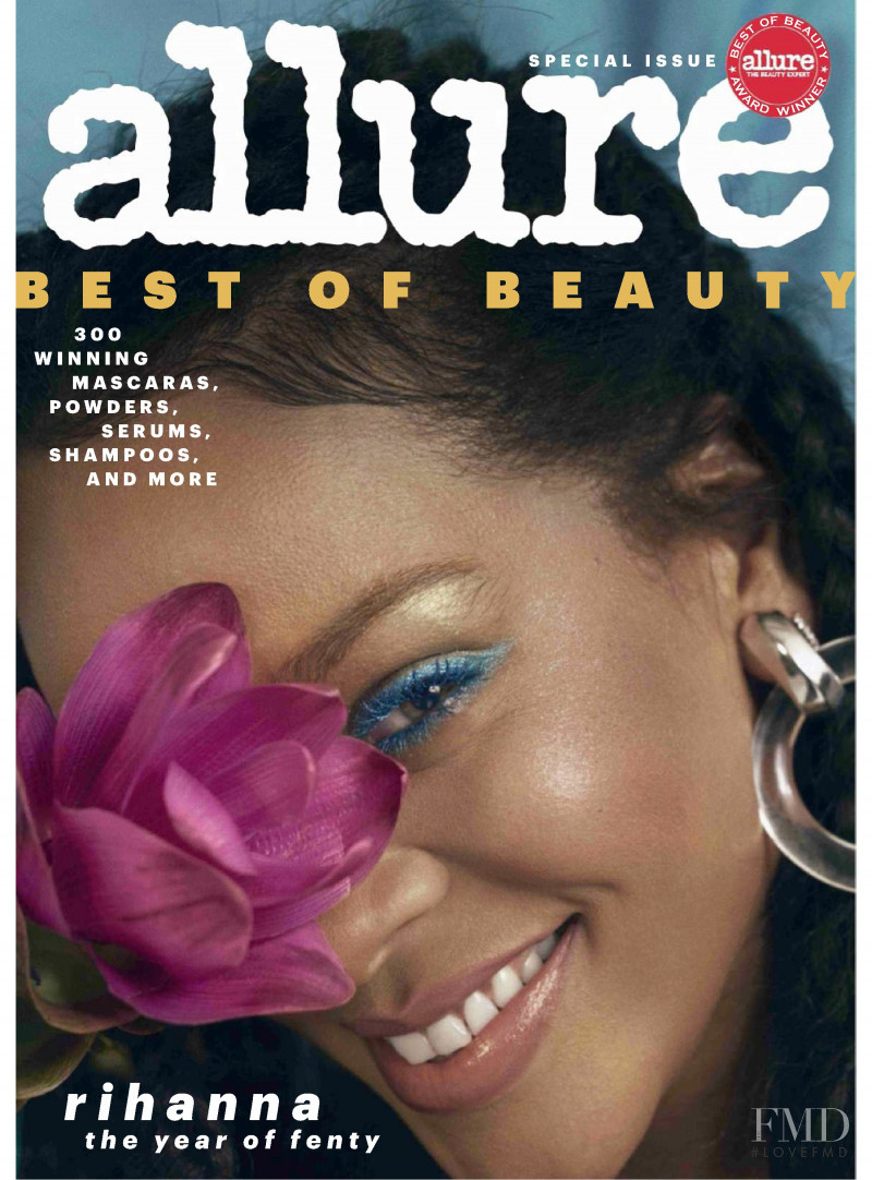 Rihanna featured on the Allure cover from October 2018