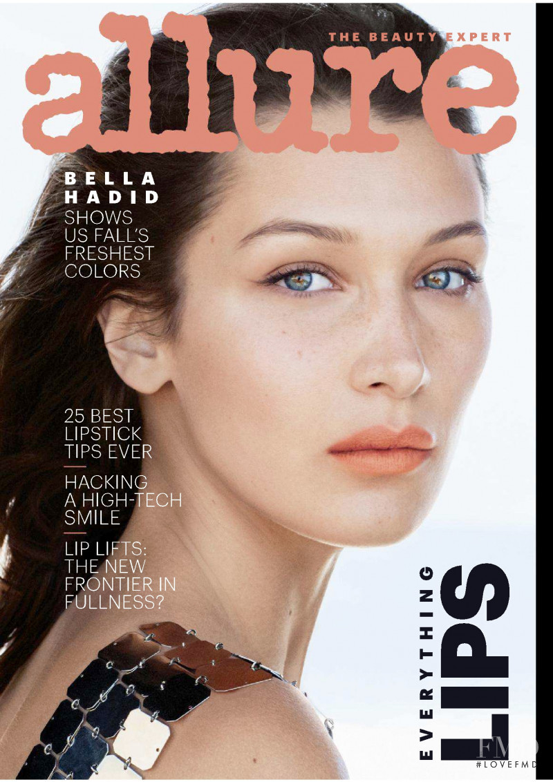 Bella Hadid featured on the Allure cover from September 2018