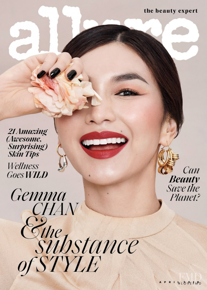 Gemma Chan featured on the Allure cover from April 2019