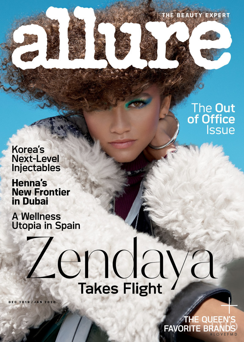 Zendaya  featured on the Allure cover from December 2019