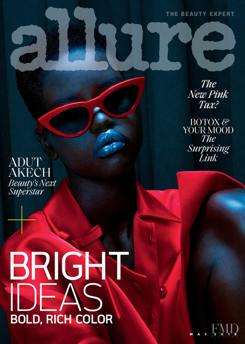 Adut Akech Bior featured on the Allure cover from May 2019