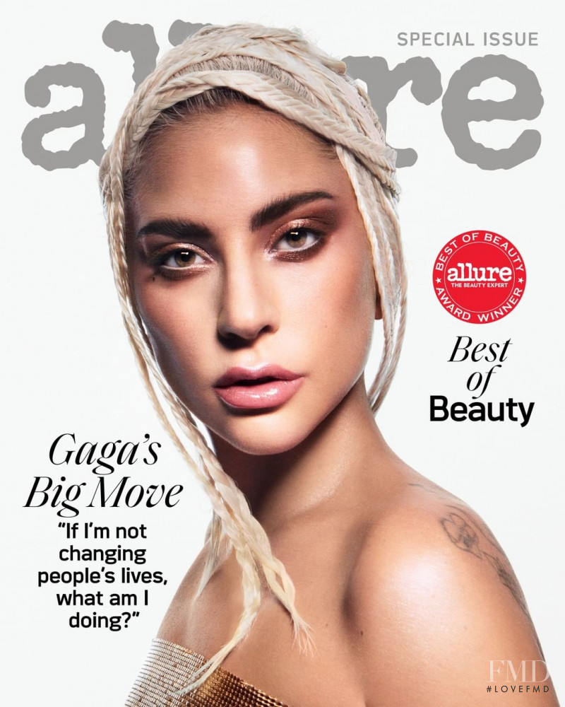 Lady Gaga featured on the Allure cover from October 2019