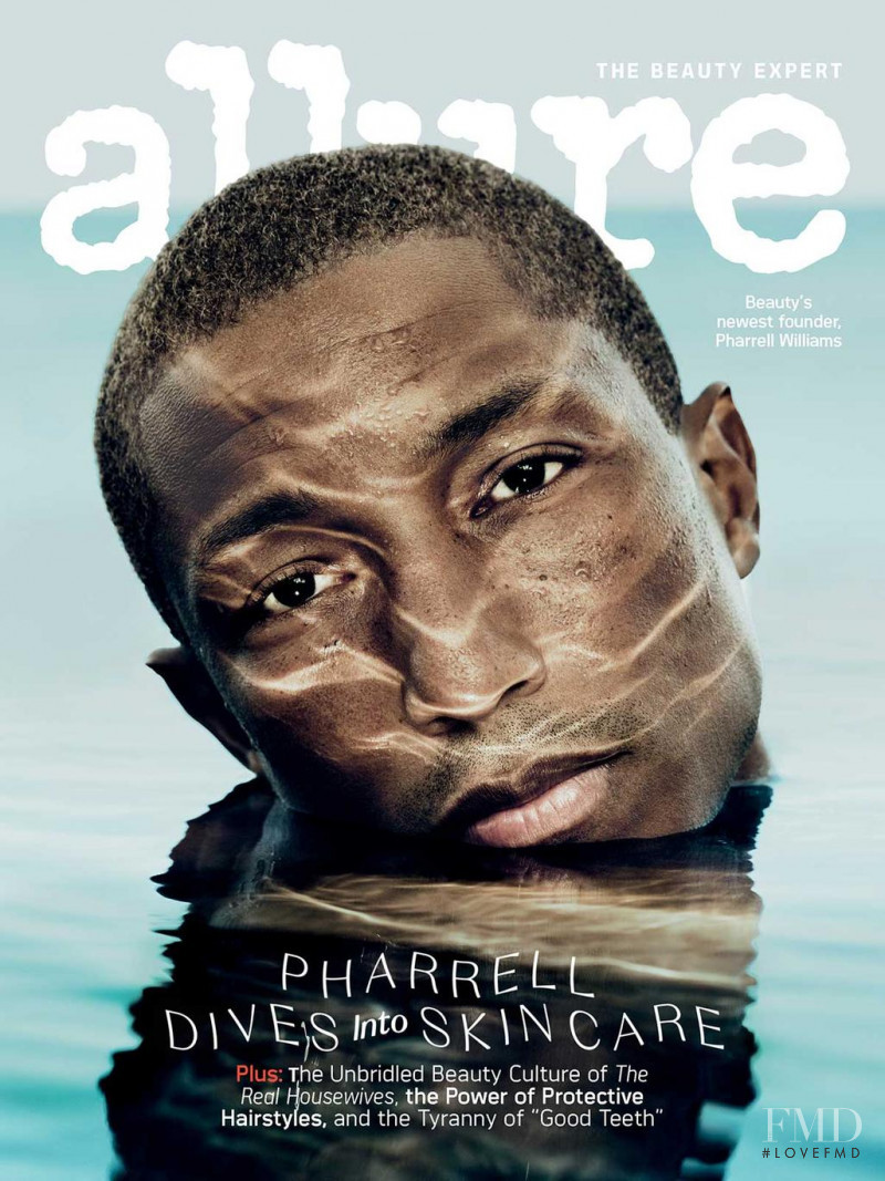 Pharrell Williams featured on the Allure cover from December 2020