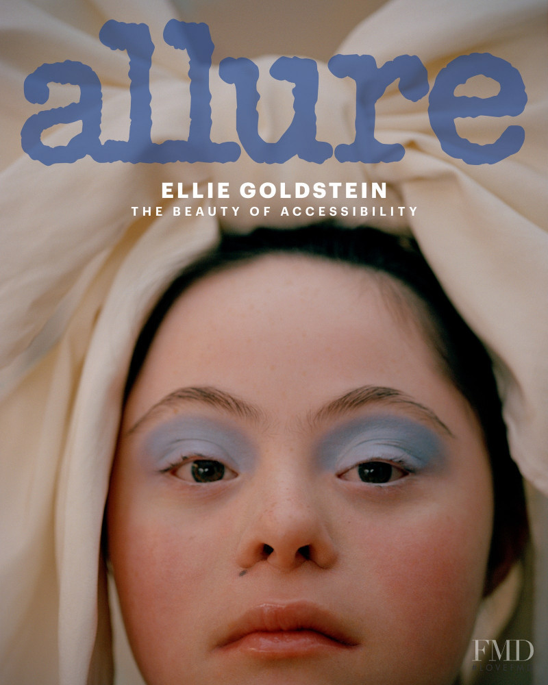 Ellie Goldstein featured on the Allure cover from December 2020