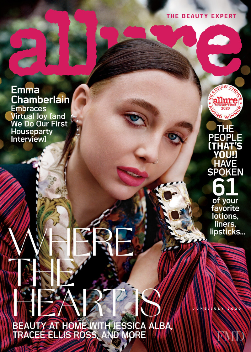Emma Chamberlain featured on the Allure cover from June 2020