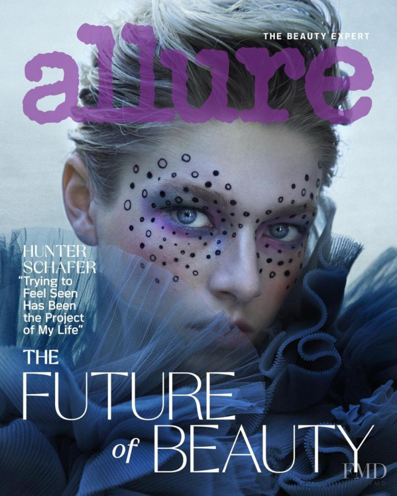 Hunter Schafer featured on the Allure cover from September 2020